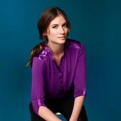 Стильная блуза из вискозы на резинке  ТСМ (гермакния) размер 44 евро=50-52