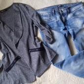 Стильный комплект,джинсы Only w32 и двухнитка кардиган L-XL,в идеале!!!