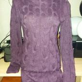 Теплое, вязаное платье!! Шикарный цвета!! Очень красиво сидит))