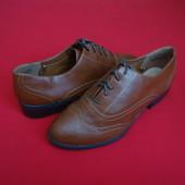 Туфли броги F&F Brown размер 39
