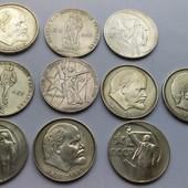монети рублі СССР 10 шт 20 лет победи 30 лет победи  50 лет совецкой власти 100 лет со дня рождения