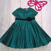 Стоп!Шикарное нарядное платье изумрудный цвет отличное состояние