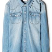 Джинсовая рубашка 7-9 лет.