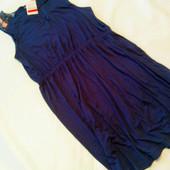 Мой пролет. Синее, трикотажное платьице C&A. Размер L