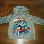 теплый свитер-толстовка с начесом Паровозик Томас