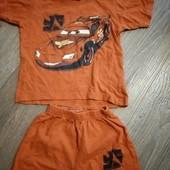 летний комплект футболка и шорты Тачки