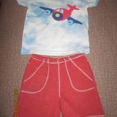Набор футболка и шорты Next 6-9 мес (рост 68-74 см)