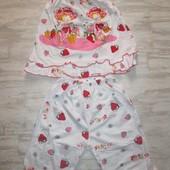 Детская пижама для девочки на 2-3 года