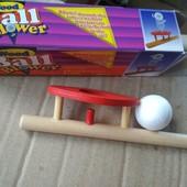 Увлекательная, забавная игрушка для укрепления дыхательных путей. Деревянная. Последние