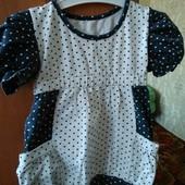 Платье для малышки 9-12 мес