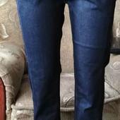 Качественные зауженные джинсы. Благородный насыщенный синий цвет. Бренд Lady N. Хлопок.