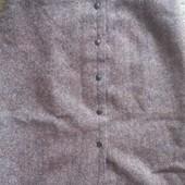 писк моды фирменная дорогущая юбка  кнопки можно на бок или посередине настоящая щерсть милано