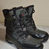 Детские ботинки эко-кожа+прорезиновая ткань Kangaroos  37 р.стелька 23.5 см.