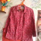 Ситцевая рубашка в мелкий цветочек на 44-46 размер