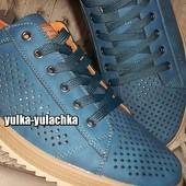 рр. 46, 47, 48, 49 Стильные перфорированные туфли на шнуровке