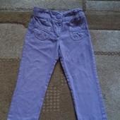 Сиреневые джинсики для девочки 2-3 лет