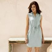 Шикарное платье на лето в составе 55% лен !!фирменое Германия Esmara р евро 44