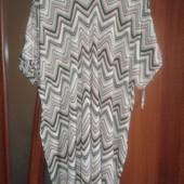 Фирменное летнее платье с открытыми плечами р. 16-18 состояние отличное.
