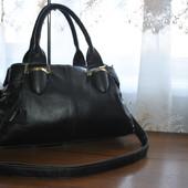 Кожа+кожзам сумочка бренда Domo,3 отдельных отделения