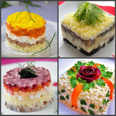 Формочки для оформления блюд квадрат (3 шт. в наборе)