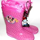 """Новые!Резиновые сапожки """"Disney"""" с любимыми героями в 4-х расцветках, размеры26,27,28,29,30,31,32,33"""