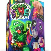 Набор для творчества Ручной лизун Сделай слайм Crazy Slime. Светиться в темноте