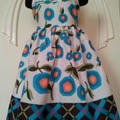 Красивое летнее лёгкое платье-сарафан! На возраст примерно 3-5 лет,есть замеры!