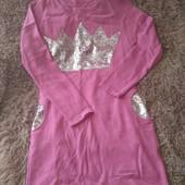 Розовое платье со стразами тонкой вязки, размер М-Л
