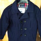 Шерстяное пальто для мальчика 3-5г.