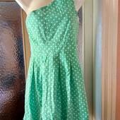 Летнее платье через одно плечо. см.замеры