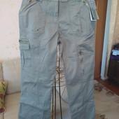 Коттоновые джинсы в стиле милитари, размер l (48)