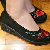 Красивые туфли  23,7 см  Реальные фото