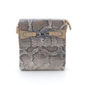 Вместительная   сумка  кроссбоди змеиный принт