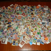 Гора марок разных стран мира ! 457 шт. Гашеные и чистые! Есть полные серии!