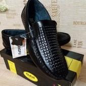 Туфли с перфорацией  Kangfu  мокасины