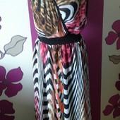 Фирменное ,нарядное ,шифоновое платье в пол 50-52 размер ,новое.