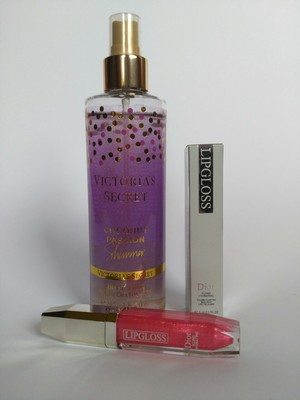 763c788be3116 Оригинал Victoria's Secret Coconut passion shimmer 245 ml с блестками +  блеск Dior. Все новое