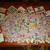 Марки и блоки разных стран мира. 510 марок. + 15 блоков.