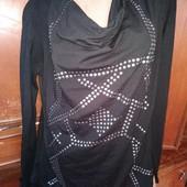 Блуза с шифоновой удлиненной спинкой