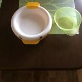 Оригинал, термо-тарелка уточка Chicco, состояние отличное!