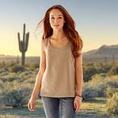 Стильная Блуза топ с перфорацией мягенькая замша красивый песочный цвет Tchibo размер 36 евро=42-44