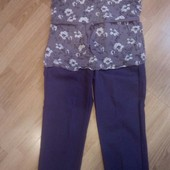 Летний женский костюм O'Stin (брюки и блузка)