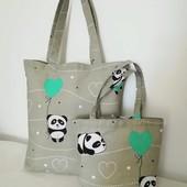 Милая панда! Комплект интересных сумочек для мамы и дочки!