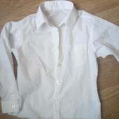 Рубашка белая на 110-116 рост