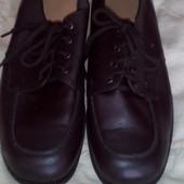новые ортопедические туфли из натуральной кожи 28 см.стелька
