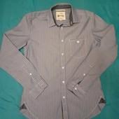 Голубая рубашка в полоску Tom Tailor, разм. S. 100% коттон. Сост. отличное!