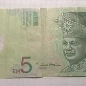 Бона Малайзии 5 ринит (пластик)