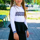 Красивая юбочка с баской, черная
