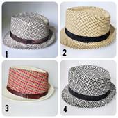 Новая плетёная шляпа трилби для мужчин и девушек. Размер 56-58