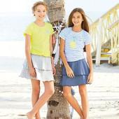 Стильная трикотажная юбочка для девочки Dana Schweiger Германия 134/140 на выбор
